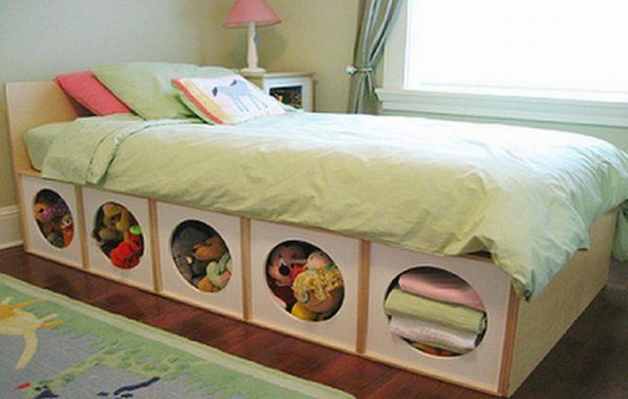 Space Efficient Bed With Storage