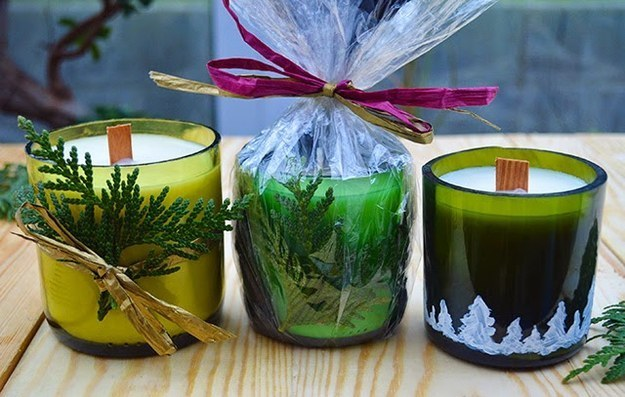 REALIZE HANDMADE WINE BOTTLE CANDLES