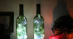 YOU CAN USE WINE BOTTLES AS ACCENT LIGHTS
