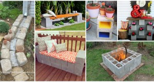17 Extraordinary Ideas on How to Decorate Your Yard with Cinder Blocks