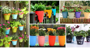 12 Flower Pots In Different Colors For Your Balcony
