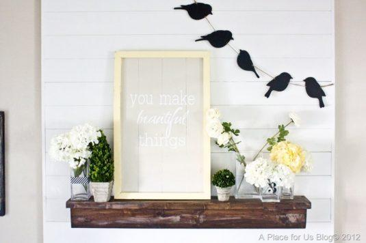 Adorable Spring Mantel Decor Ideas That Will Warm Your Hearts