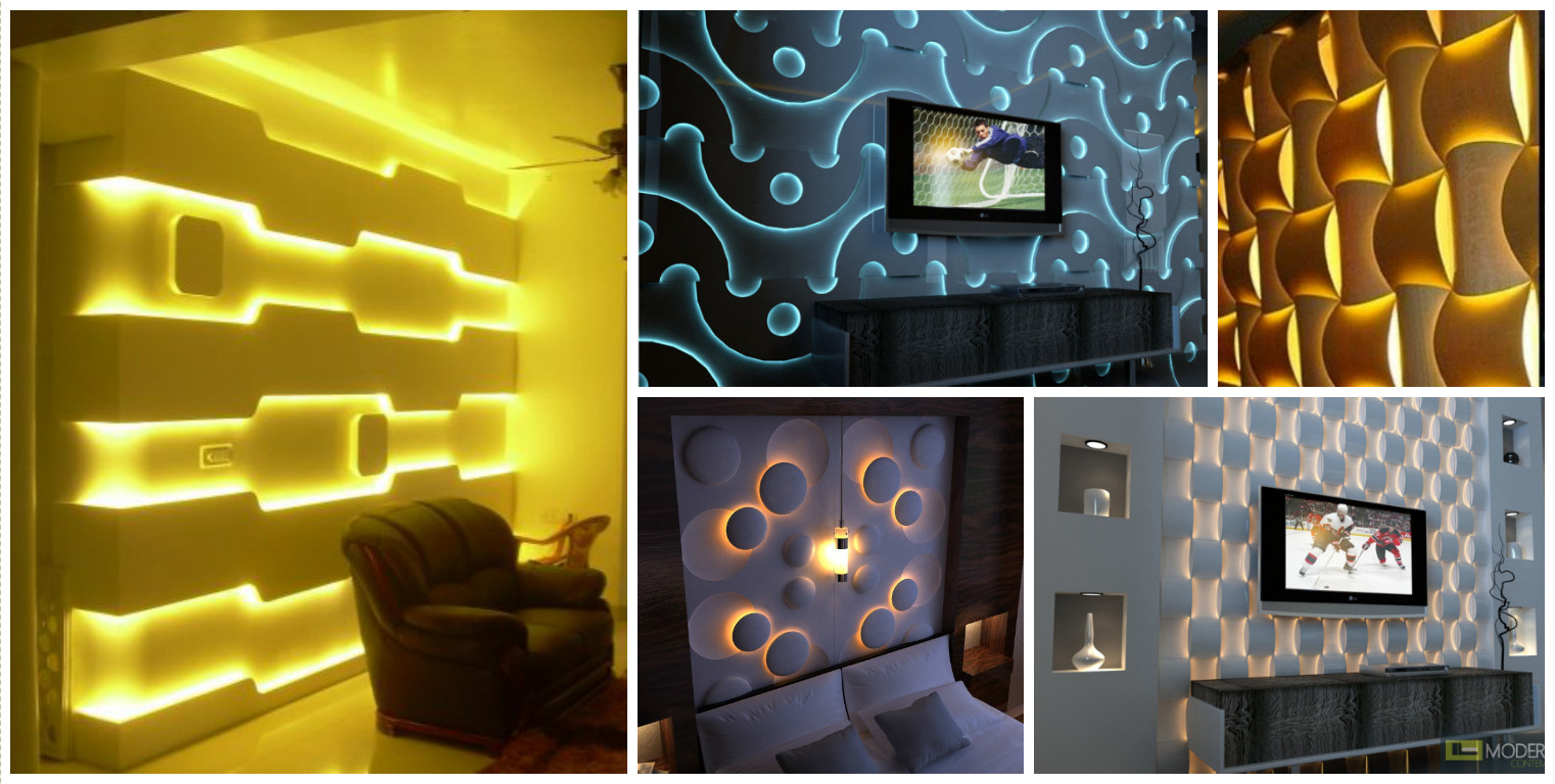 12 3D Wall Panels with LED Lighting For Evocative House Walls ...