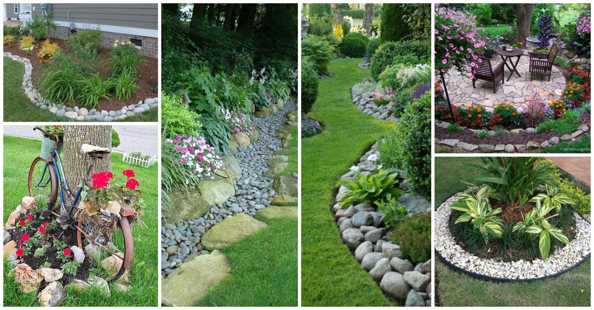 11 Impressive Garden Edging Ideas with Pebbles and Rocks - Ideas to Love