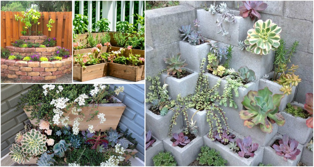 DIY Corner Planters Perfect For Small Gardens - Ideas to Love on Diy Small Patio Ideas id=51870