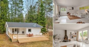 A Small White House in the Woods of Sweden 0