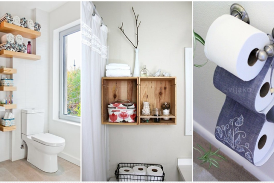 Creative Bathroom Organizations and DIY Solutions