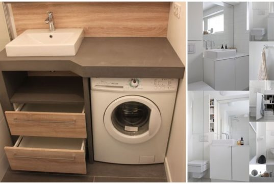 Small Bathrooms with Washing Machines