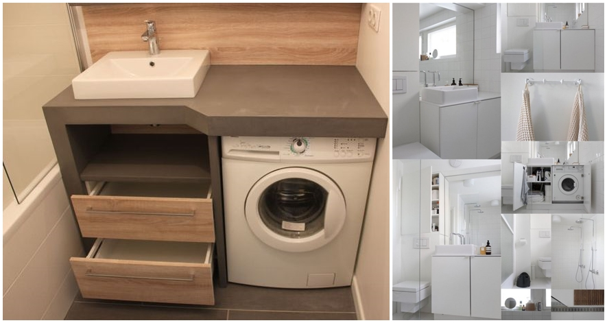 Small Bathrooms With Washing Machines Ideas To Love