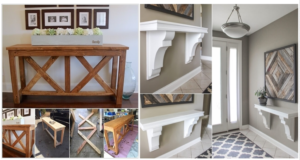 Fabulous DIY Entryway Table Ideas